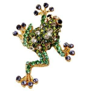 Jewelry - 3/$18~Crystal Frog Brooch